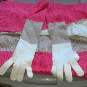 J crew glove and scarf set